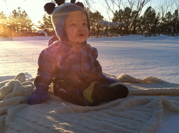 snow-sitting